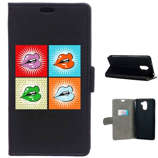 Becool® - Funda Libro Pop Art Labios Para Wileyfox Swift 2 - 2 Plus