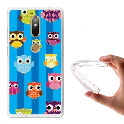 Becool® - Fundas Gel Búho Recortable Infantil Para Lenovo Phab 2 Plus