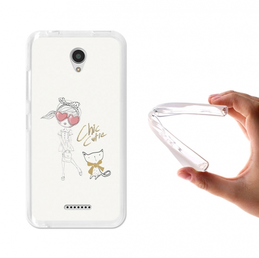 Becool® - Fundas Gel Chic Cutie Para Lenovo A Plus