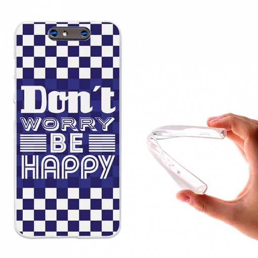Becool® - Fundas Gel Don't Worry, Be Happy Para Zte Blade V8