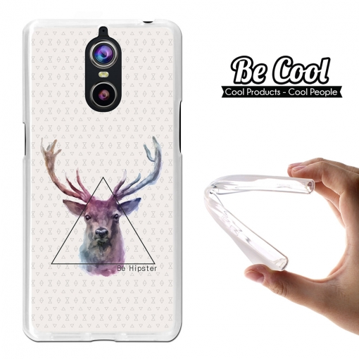 "Becool® - Fundas Gel Dibujo Ciervo ""be Hipster"" Para Doogee Shoot 1"