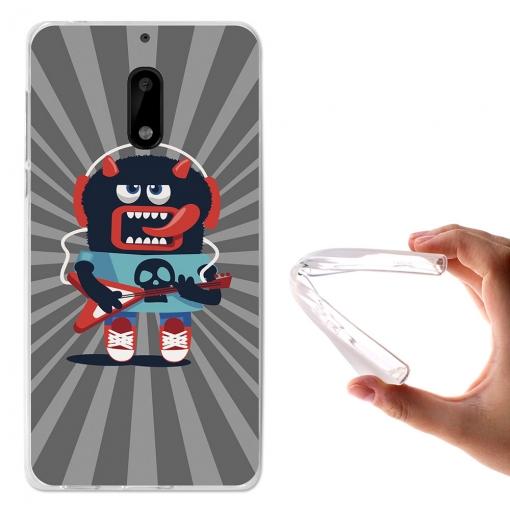 Funda Gel Tpu Monstruo De Música Para Nokia 6 - Becool® | Las ...
