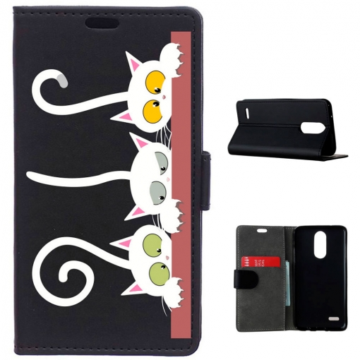 German Tech® - Funda Libro Gatos Asomados Para Lg K4 2017
