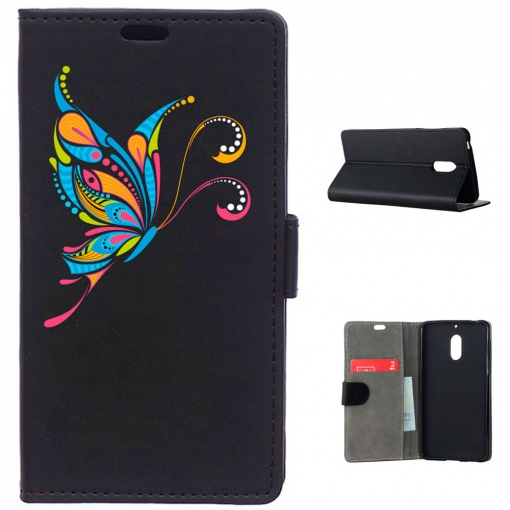 German Tech® - Funda Libro Mariposa Tribal Para Nokia 6