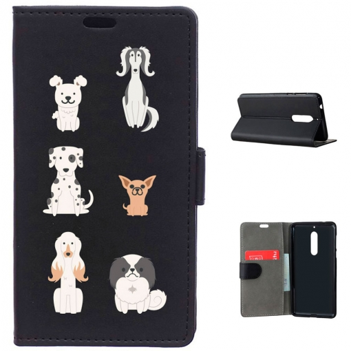 German Tech® - Funda Libro Seis Perros Para Nokia 5