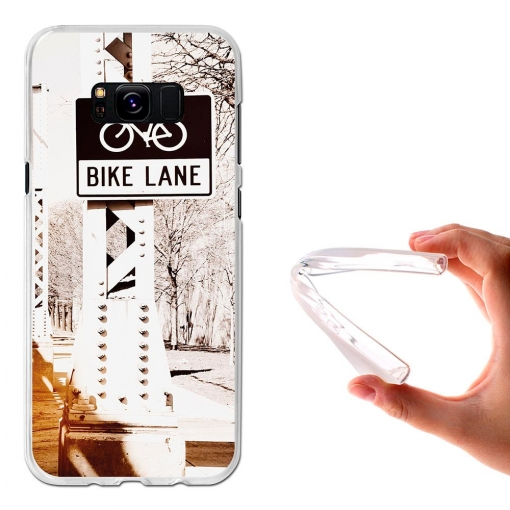 Funda Gel Flexible Tpu Carril Para Bicis Para Samsung Galaxy S8+ - Becool®