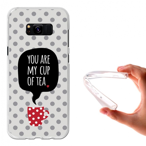 Funda Gel Flexible Tpu You Are My Cup Of Tea Para Samsung Galaxy S8+ - Becool®
