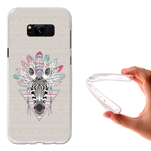 Funda Gel Flexible Tpu Cebra Azteca Para Samsung Galaxy S8+ - Becool®