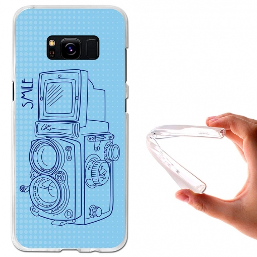 Funda Gel Flexible Tpu Cámara Vintage Para Samsung Galaxy S8 - Becool®