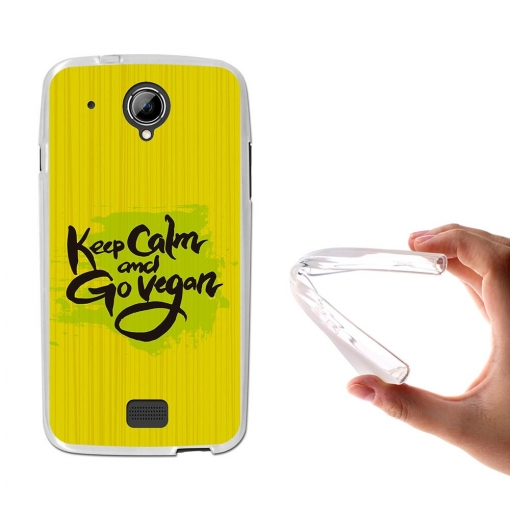 Becool® - Fundas Gel Keep Calm Y Hazte Vegano Para Startrail 5