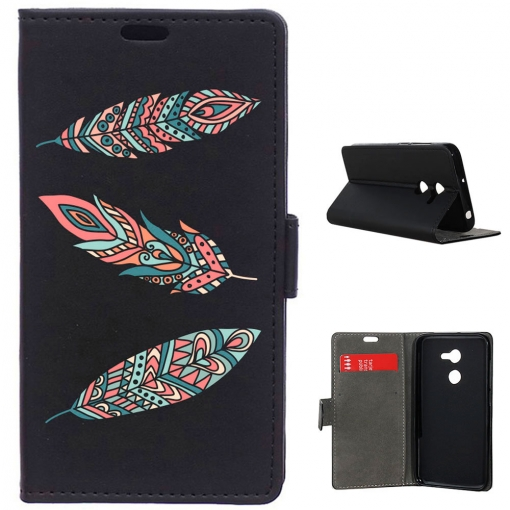 German Tech® - Funda Libro Tres Plumas Para Alcatel A3