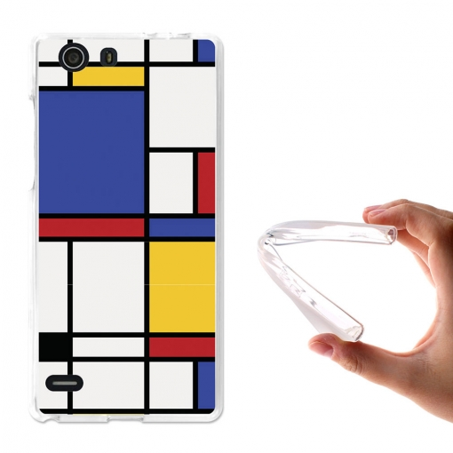 Becool® - Fundas Gel Abstraccion Geomética Para Elephone S2