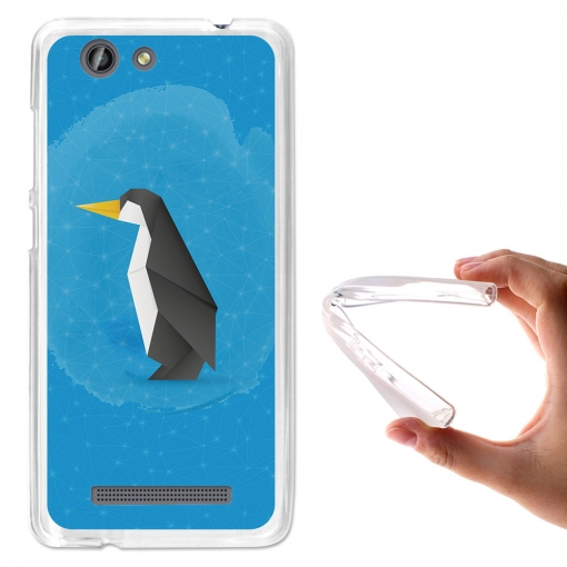 Becool® - Fundas Gel Pingüino Origami Para Weimei Force