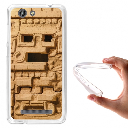 Becool® - Fundas Gel Monumento Azteca Para Weimei Force