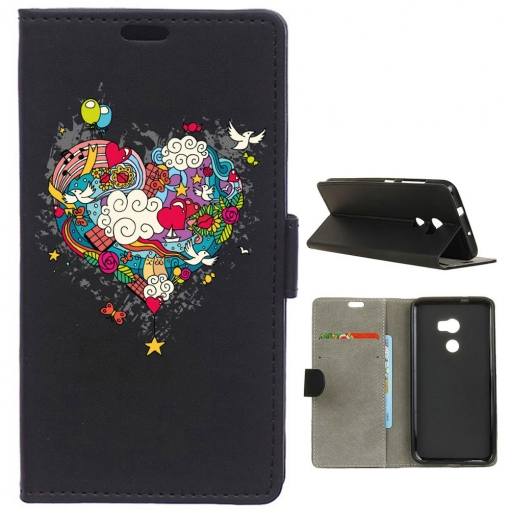 German Tech® - Funda Libro Corazón Hippie Para Htc One X10