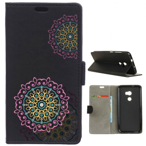 German Tech® - Funda Libro Mandala Rosa Y Amarillo Para Htc One X10