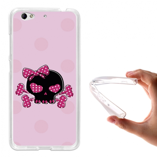 Becool® - Fundas Gel Calavera Rosa Para Weimei We Plus