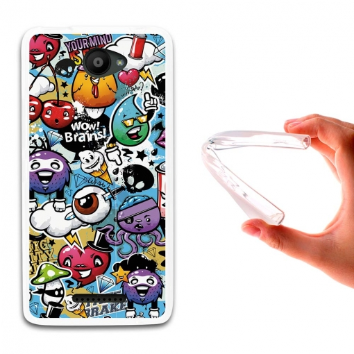 Funda Bq Aquaris U - U Lite. Grafiti De Colores Divertido - German Tech®