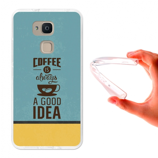 Funda Gel Para Bq Aquaris V Plus. Café, Una Buena Idea - 3b®