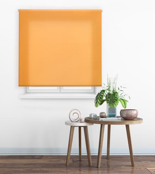 Estor Enrollable Happystor Clear Tejido Traslúcido 107-naranja 70x175