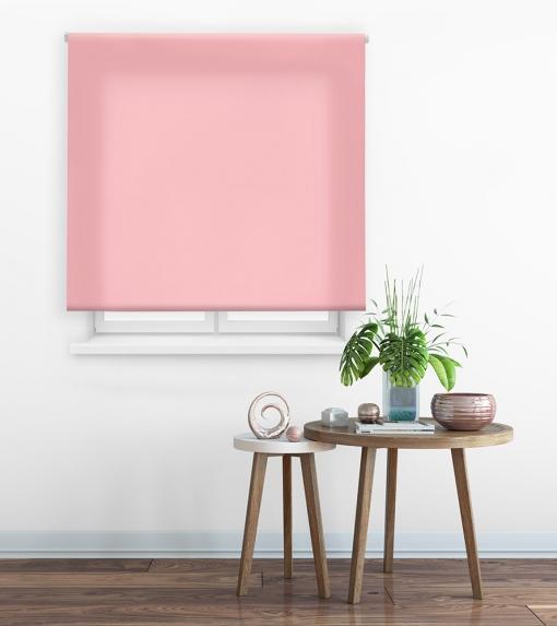 Estor Enrollable Happystor Clear Tejido Traslúcido 114-rosa 60x175