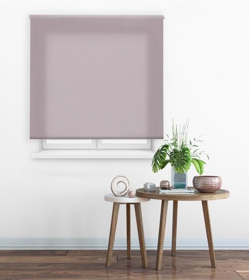 Estor Enrollable Happystor Clear Tejido Traslúcido 115-marrón Pastel 65x175