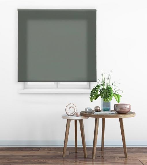 Estor Enrollable Happystor Clear Tejido Traslúcido 117-gris Pastel 170x175