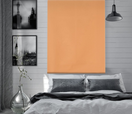 Estor Enrollable Happystor Dark Opaco Liso 207-naranja 85x180