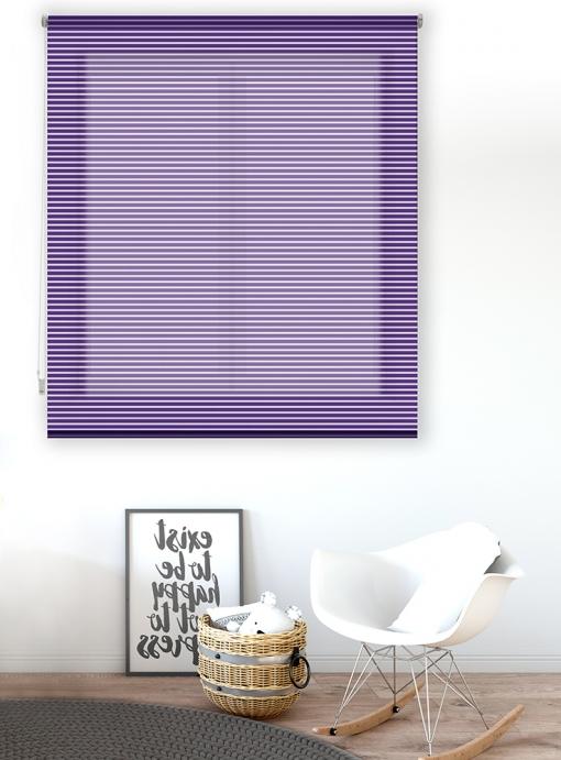 Estor Enrollable Happystor Line Rayado Liso 111-violeta 175x180