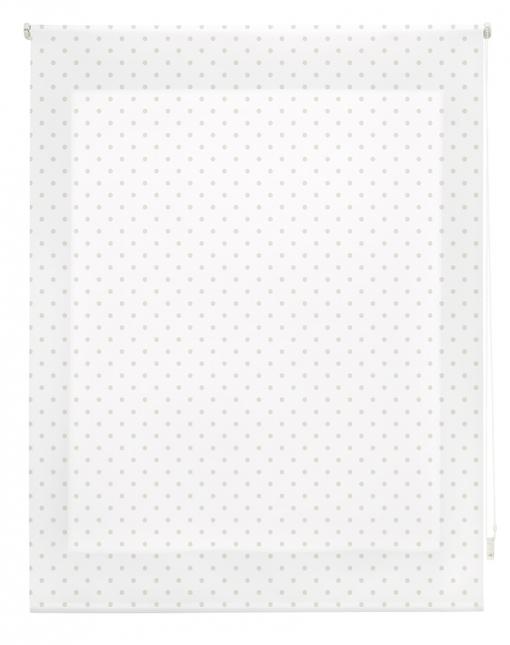 Estor Enrollable Happystor Estampado Digital Motas Blanco-beige 115x180