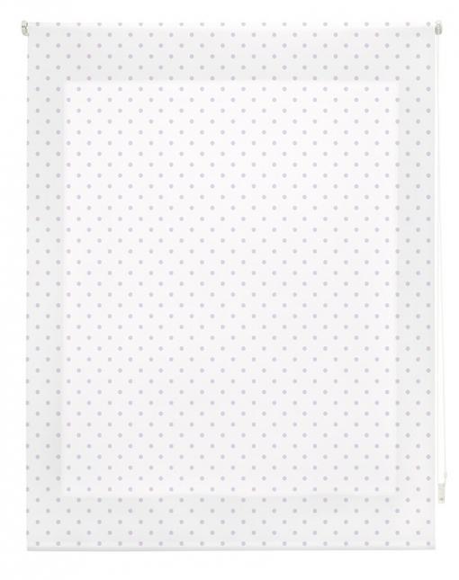 Estor Enrollable Happystor Estampado Digital Motas Blanco-lila 120x250