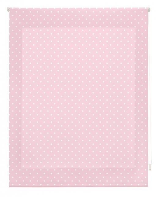 Estor Enrollable Happystor Estampado Digital Motas Rosa 135x250