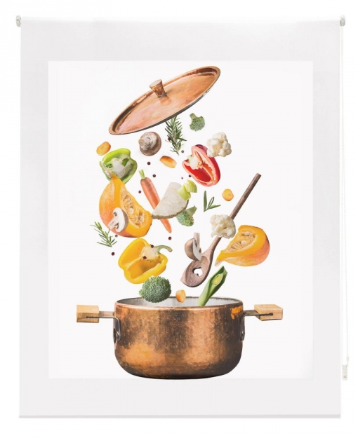 Estor Enrollable Happystor Estampado Digital Cocina Hscc91030 140x250