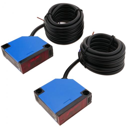 Sensor interruptor c/élula fotoel/éctrica NPN NO+NC 10-30VDC 5m barrera BeMatik