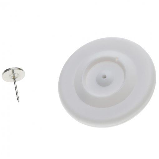 Primematik - Etiqueta Antihurto Compatible Eas Rf 8.2mhz 48mm Blanca Antirrobo Con Pin Xx01500
