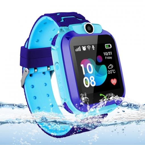 mejor proveedor moderno y elegante en moda real mejor valorado Reloj Gps Niños Localizador Con Sos Anti-lost Alarm De Klack® Tarjeta  Pantalla Táctil Smartwatch - Azul