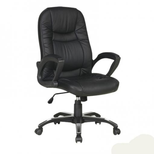 Silla Con Ruedas Para Ordenador, Oficina, Despacho O Estudio Color Negro  Reclinable 58x55x101-111 Cm