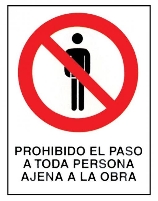 Señal Fija Prohibid Per Ajena - Cv - 0231 - 40x30 Cm