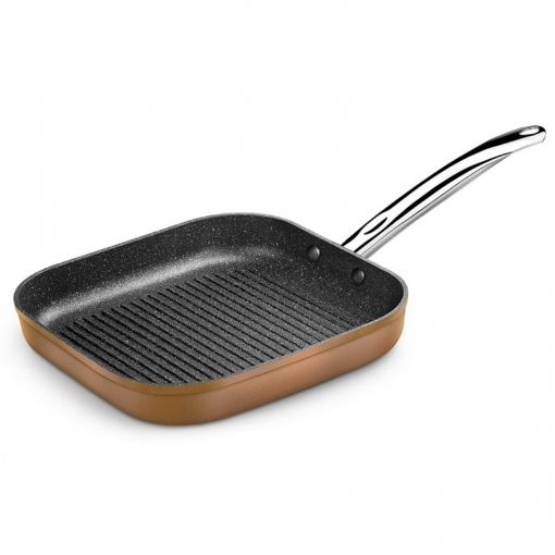 Grill Con Rayas Copper Monix M740030 28*28cm