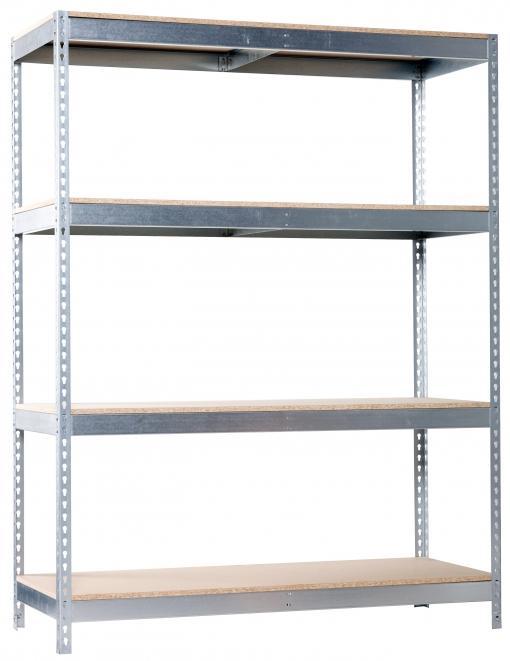 Estantería Metálica Para Taller Sin Tornillos Ecoforte  Chipboard Galva/madera