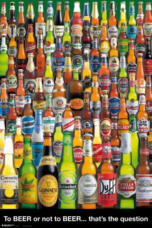Maxi Poster Cervezas Beber O No Beber