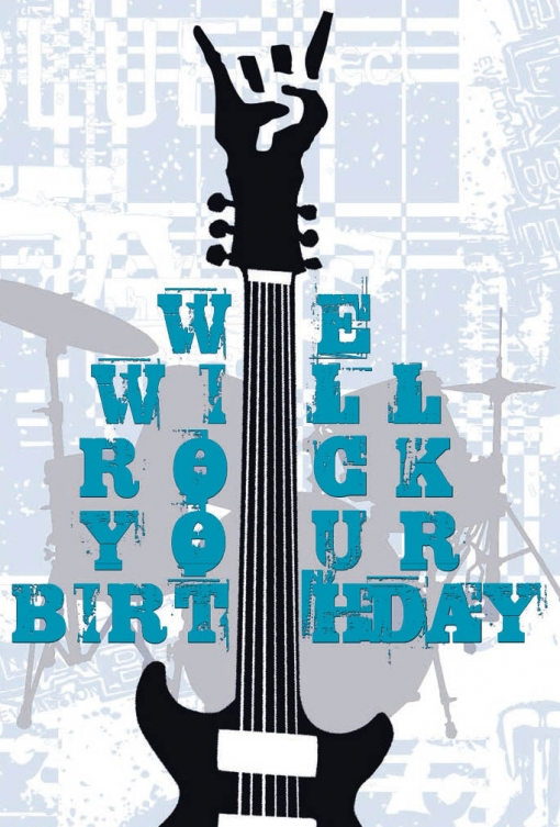 Tarjeta Felicitación We Will Rock Your Birth
