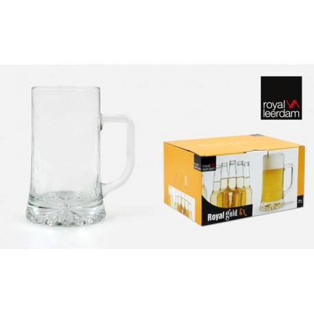 Jarra Cerveza Royal Gold Set-6 - Royal Leerdam - 761024 - 50 Cl