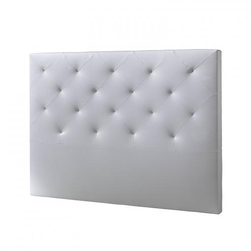 Cabecero de cama tapizado rombo 150x115 blanco las for Cabeceros cama carrefour