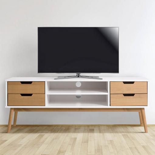 Mueble Tv Java 1 Puerta Y 2 Cajones Blanco/cera | Las mejores ...