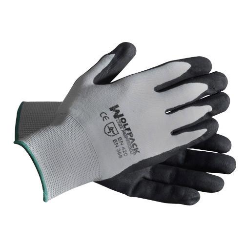 "Guante Nitrilo/nylon Glovex Transpirable 9"" (par) - Neoferr"