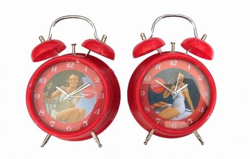 Reloj Despertador Con Campanas De Coca Cola