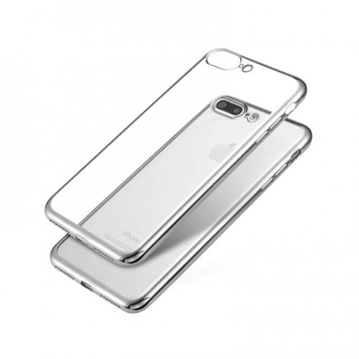 9a066175591 Jc Carcasa Transparente Con Borde Plata Apple Iphone 7/8 Pl | Las ...