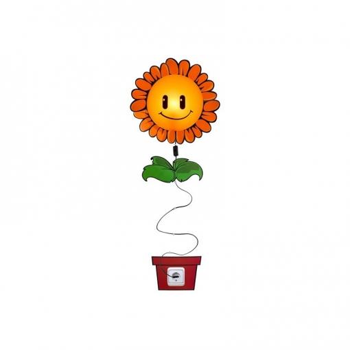 Lámpara Con Vinilo Adhesivo Flor