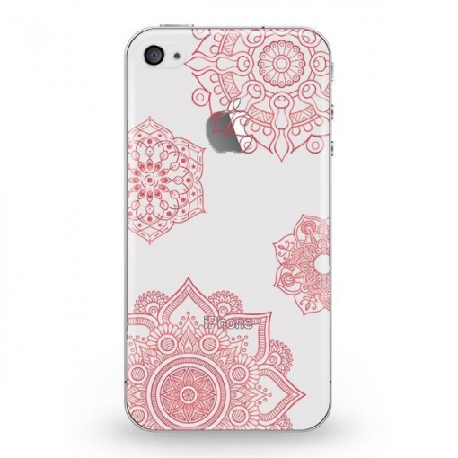 Funda Caseland Vitrales Rosa Apple Iphone 4/4s Flexible